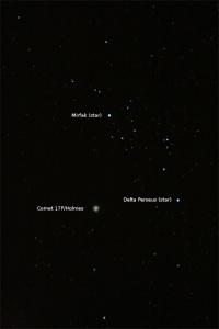 Comet 17P in Perseus