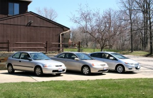 Three Hondas #1