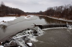 Ice Water Over the Dam