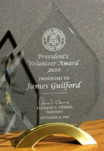 Photo: Hiram College President's Volunteer Award