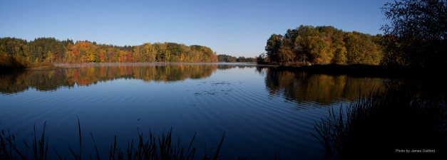Photo: Panorama of Hinckley Lake, Ohio. Photo by James Guilford.