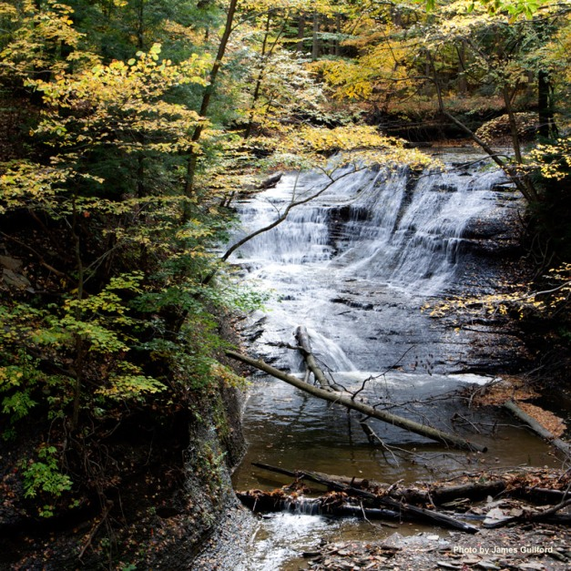 Photo: Chair Factory Falls, Lake Metroparks. Photo by James Guilford.
