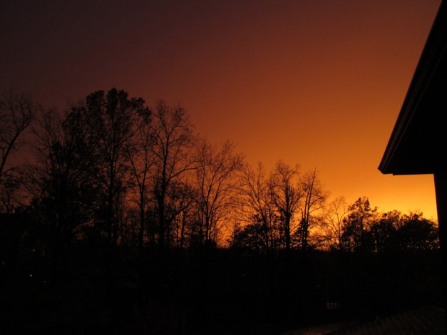 Photo: Vivid orange sunset. Photo by James Guilford.