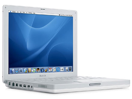 Photo: Apple iBook G4. Credit: Apple Inc.