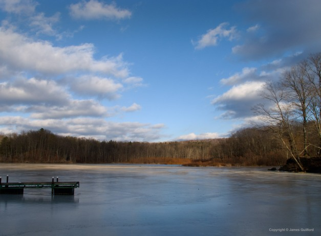 Photo: Hinckley Lake, January 2, 2011. Photo by James Guilford.
