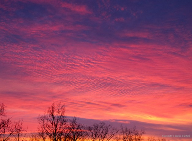 Photo: Sunset February 13, 2011, Northeast Ohio. By James Guilford