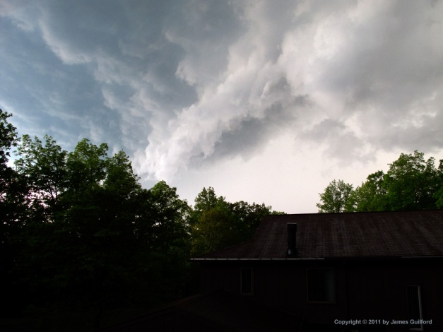 Photo: Severe weather approaches. Photo by James Guilford.