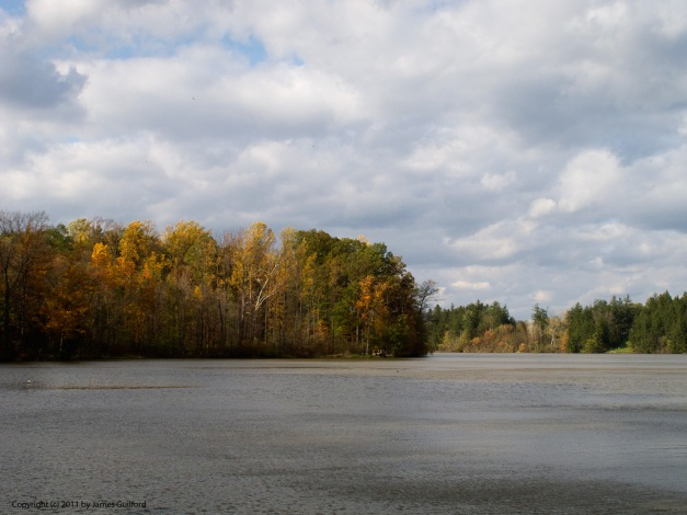 Photo: Hinckley Lake on a blustery autumn day. Photo by James Guilford.