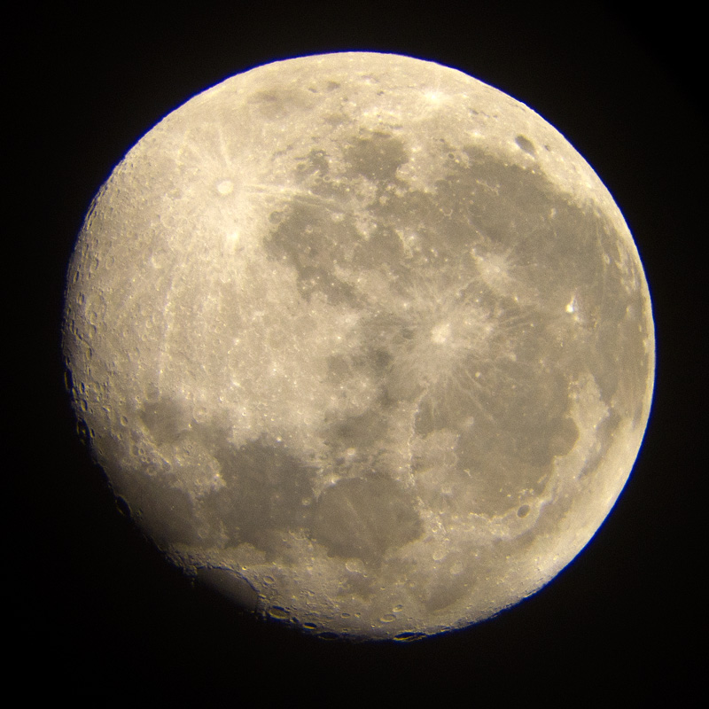 Photo: Earth's Moon on November 12, 2011. Stephens Memorial Observatory; photo by James Guilford.