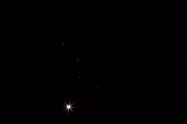 Photo: Venus graces the same part of our sky as the Pleiades. Photo by James Guilford.