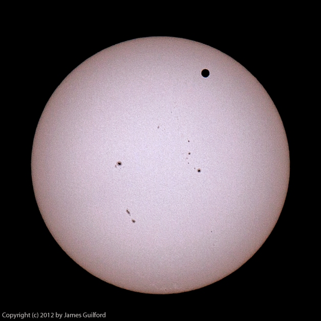 Photo: Transit of Venus. Photo by James Guilford