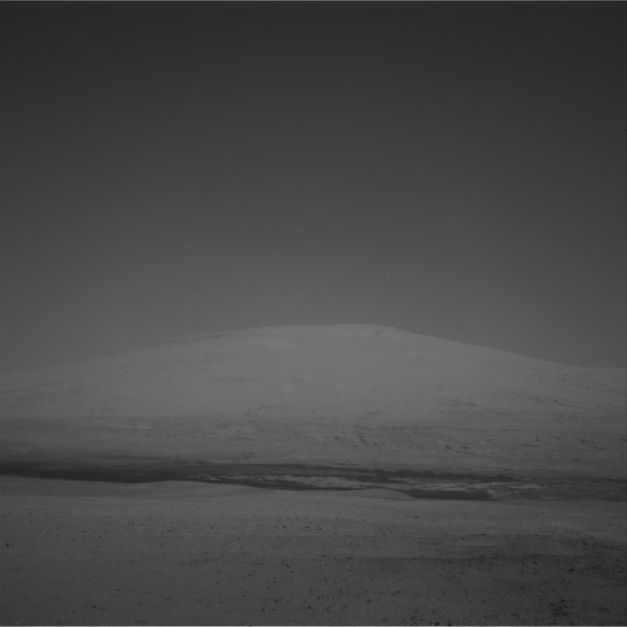 Photo: RAW image from Curiosity rover Sol 12. Credit: NASA/JPL