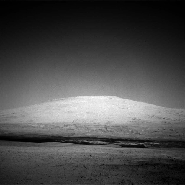 Photo: Processed image from Curiosity rover Sol 12. Credit: NASA/JPL