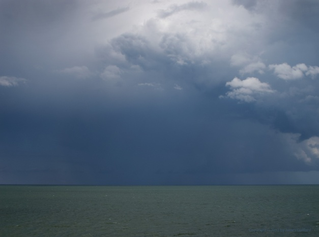 Photo: Intense thunderstorm over Lake Erie. Photo by James Guilford.