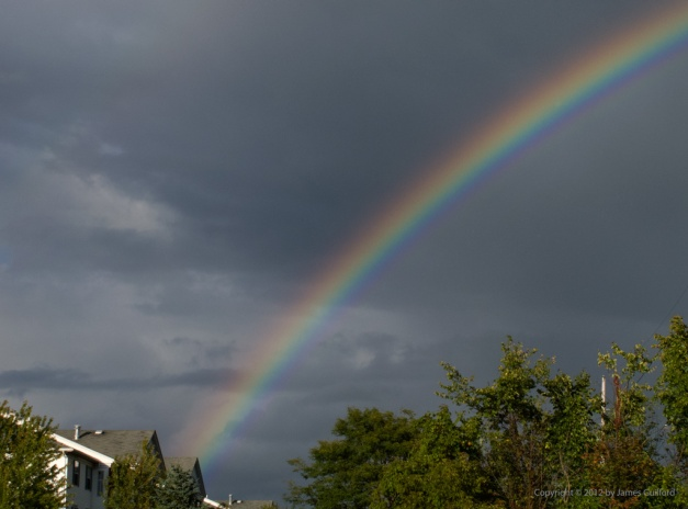 Photo: Intense rainbow over Northeastern Ohio. Photo by James Guilford.