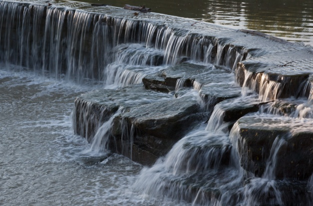 Photo: Dam on East Branch Rocky River in Berea, Ohio. Photo by James Guilford.