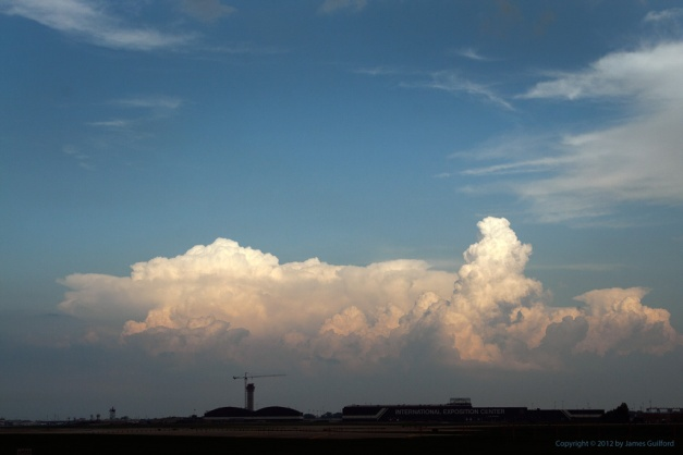 Photo: Storm clouds over airport. Photo by James Guilford.