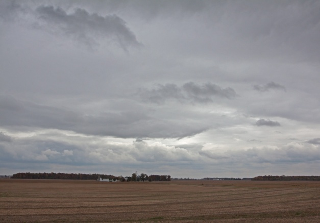 Photo: Open field and sky in Northwestern Ohio. Photo by James Guiford.
