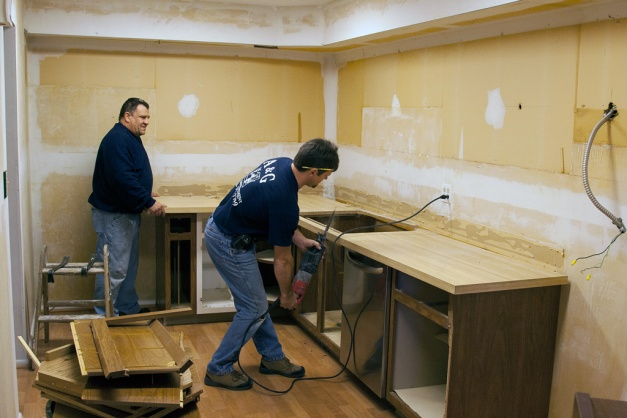 Photo: Kitchen demolition.