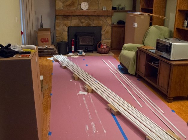 Photo: Mounding laid out for painting. Photo by James Guilford.