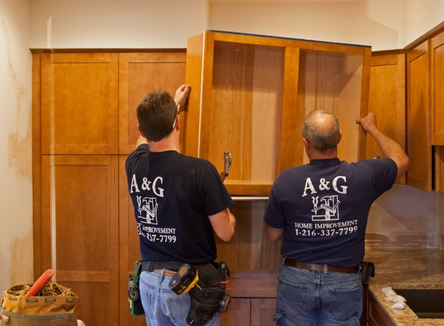 Photo: Large cabinet being installed. Photo by James Guilford.