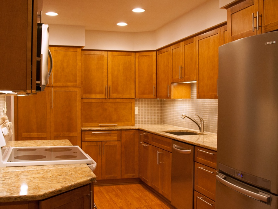 Photo: Completed kitchen. Photo by James Guilford.