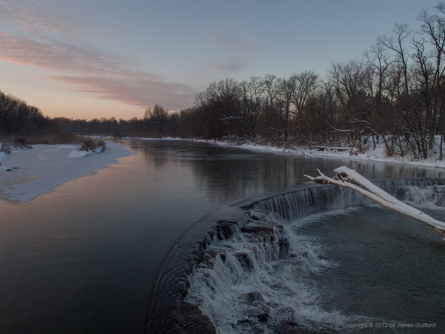Photo: Cold dawn over water. Photo by James Guilford.