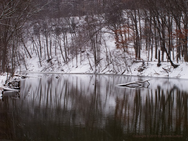 Photo: Icy scene on the first day of spring. Photo by James Guilford.