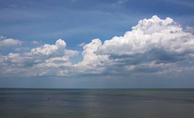 Photo: Clouds building over Lake Erie. Photo by James Guilford.