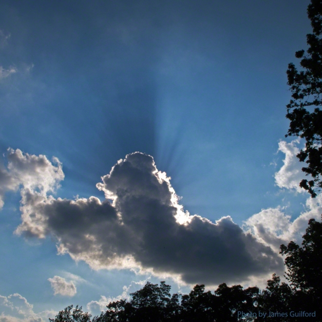 Photo: Crepuscular rays. Photo by James Guilford.