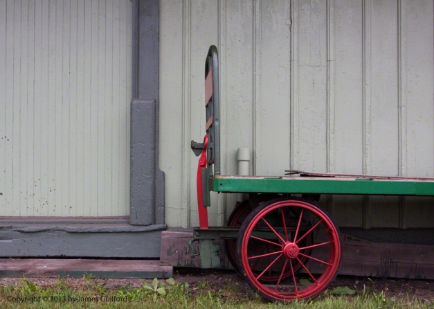 Photo: Old baggage cart at railway station. Photo by James Guilford.