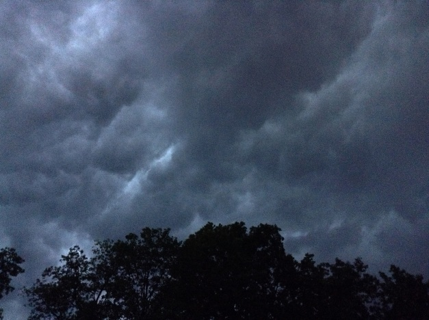 Photo: Storm Clouds Overhead. Photo by James Guilford.