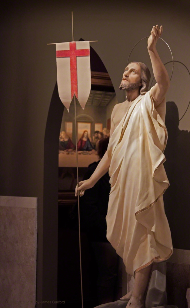 Photo: Statue of Resurrected Jesus. Photo by James Guilford.