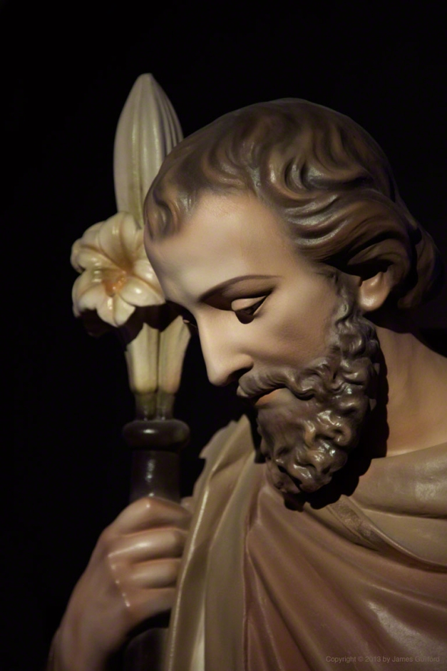 Photo: Statue of St. Joseph. Photo by James Guilford.
