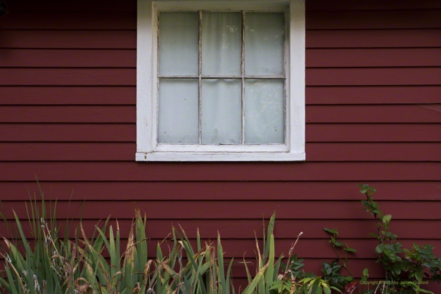 Photo: Wall and window of a garden shed in Milan, Ohio. Photo by James Guilford.