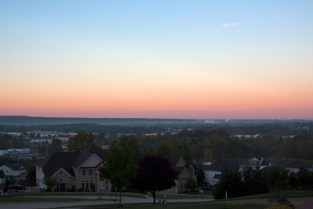 Photo: The Belt of Venus effect. Photo by James Guilford
