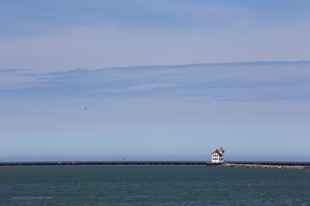 Photo: Lorain (Ohio) Light on a Blustery April Sunday by James Guilford.