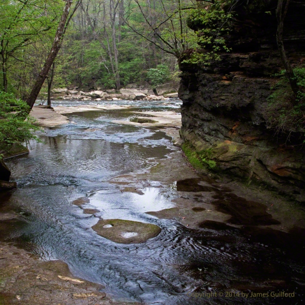 Photo: View along a rocky stream bed. Photo by James Guilford.