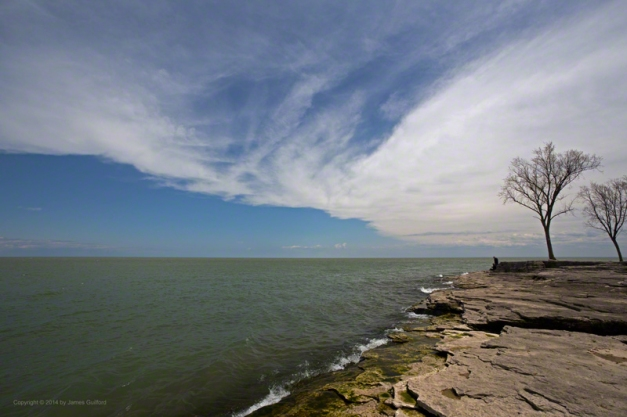 Photo: View off Marblehead of Lake Erie and Dramatic Sky. Photo by James Guilford.