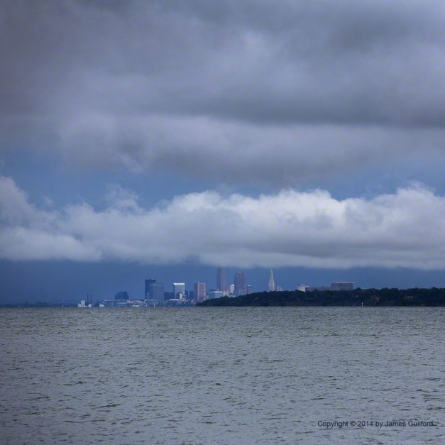 Photo: Storm clouds over downtown Cleveland. Photo by James Guilford.