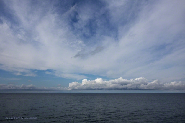 Photo: A line of clouds over Lake Erie. Photo by James Guilford.