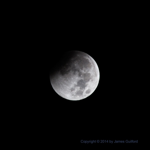 Photo: Lunar Eclipse, Oct. 8, 2014. Photo by James Guilford.