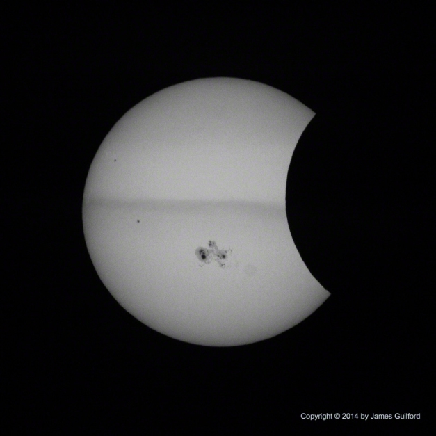 Photo: Partial Solar Eclipse, October 23, 2014. Photo by James Guilford.