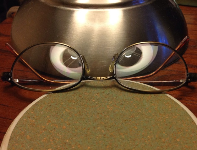 Photo: Eyeglasses with reflections. Photo and copyright 2014 by James Guilford.