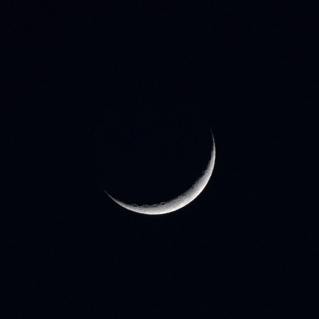 Photo: Crescent Moon. Photo by James Guilford.
