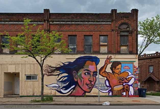 Photo: Mural on old building in Toledo, Ohio. Photo by James Guilford.