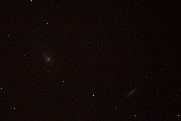 Photo: Star field with galaxies M81 & M82. Photo by James Guilford.
