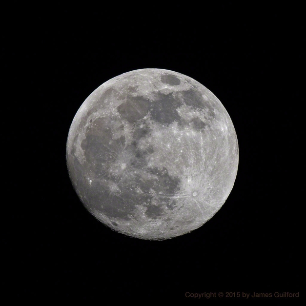 Photo: Waxing Gibbous Moon, One Day from Full.