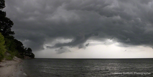 Photo: Storm approaching over Lake Erie. Photo by James Guilford.