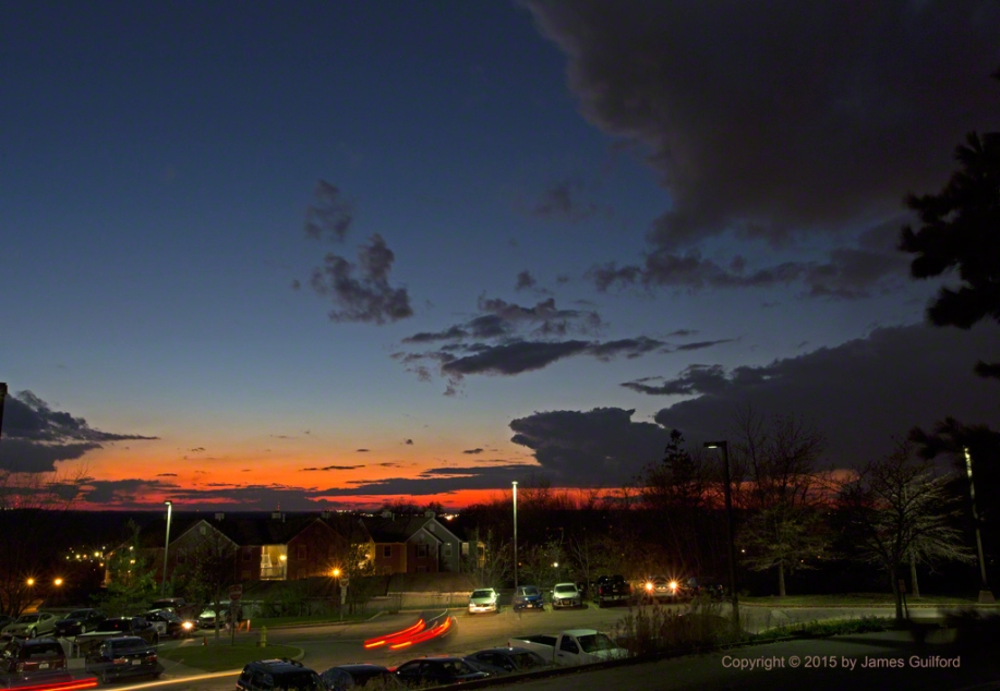 Photo: Clear skies overhead, brilliant colors below. Photo by James Guilford.